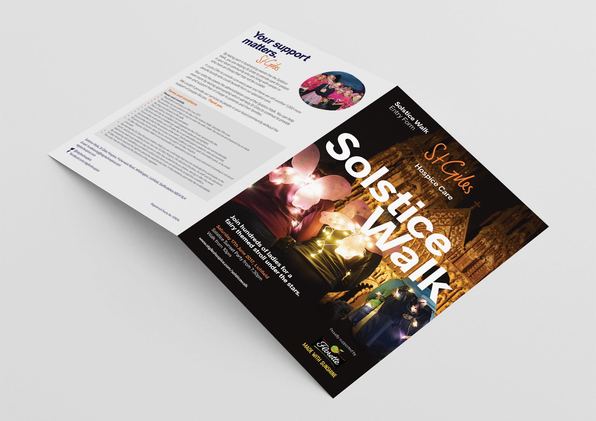 St Giles Hospice Solstice Walk leaflet