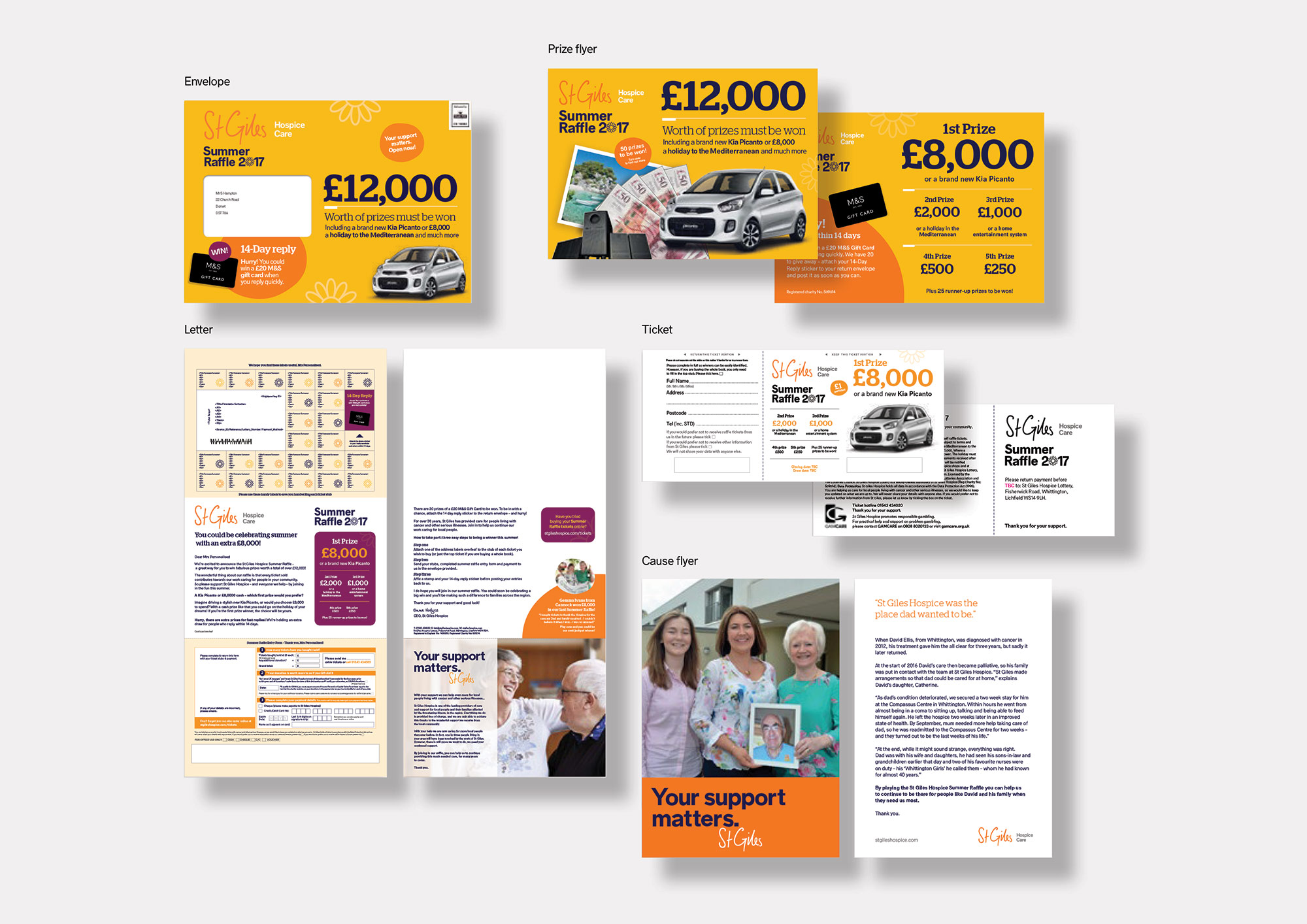 St Giles Hospice promotional pack