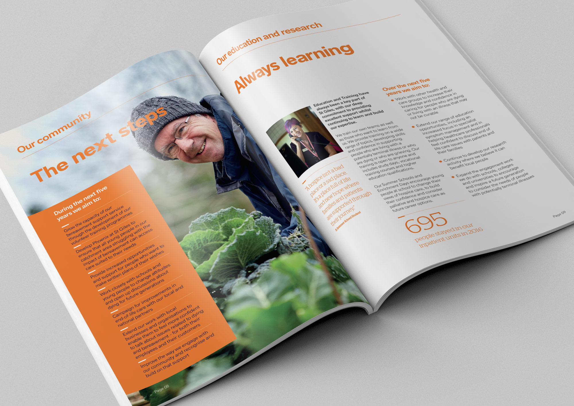 St Giles Hospice annual report