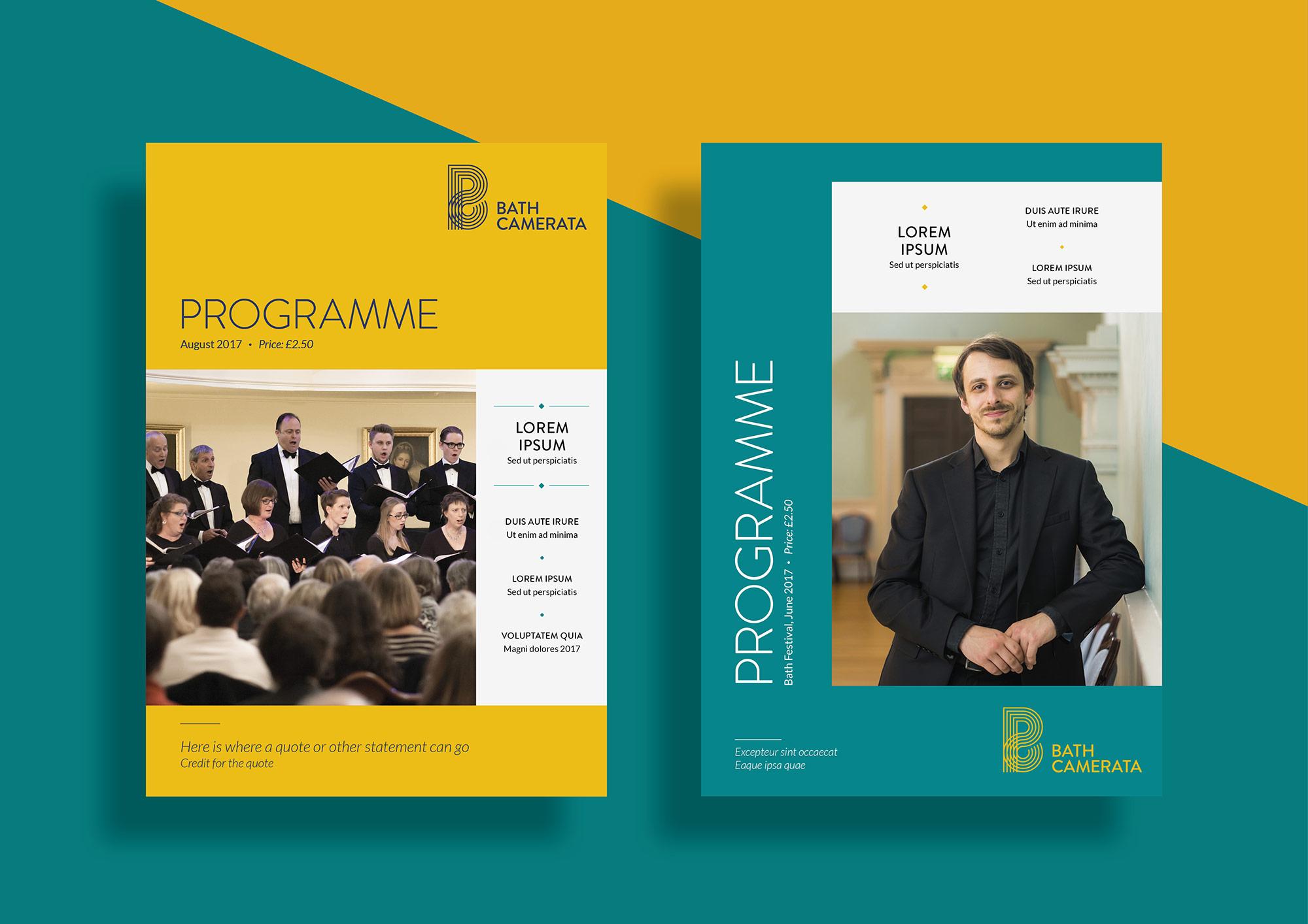 Bath Camerata programme covers