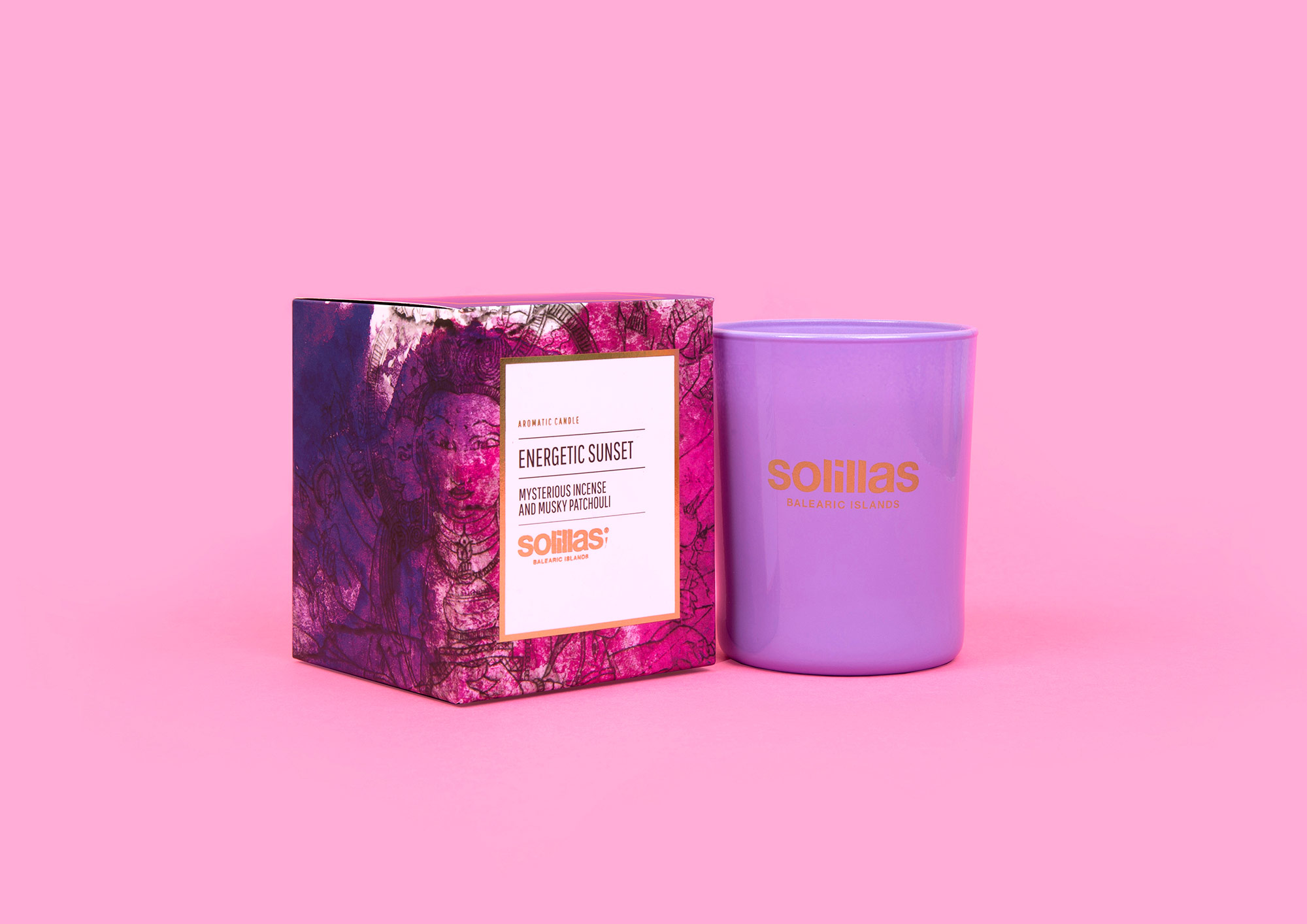 Solillas candle packaging