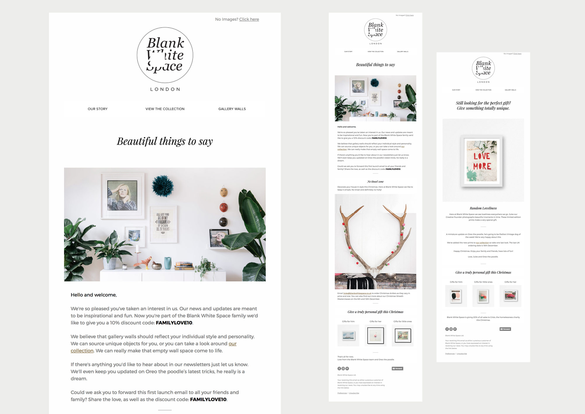 Blank White Space email marketing
