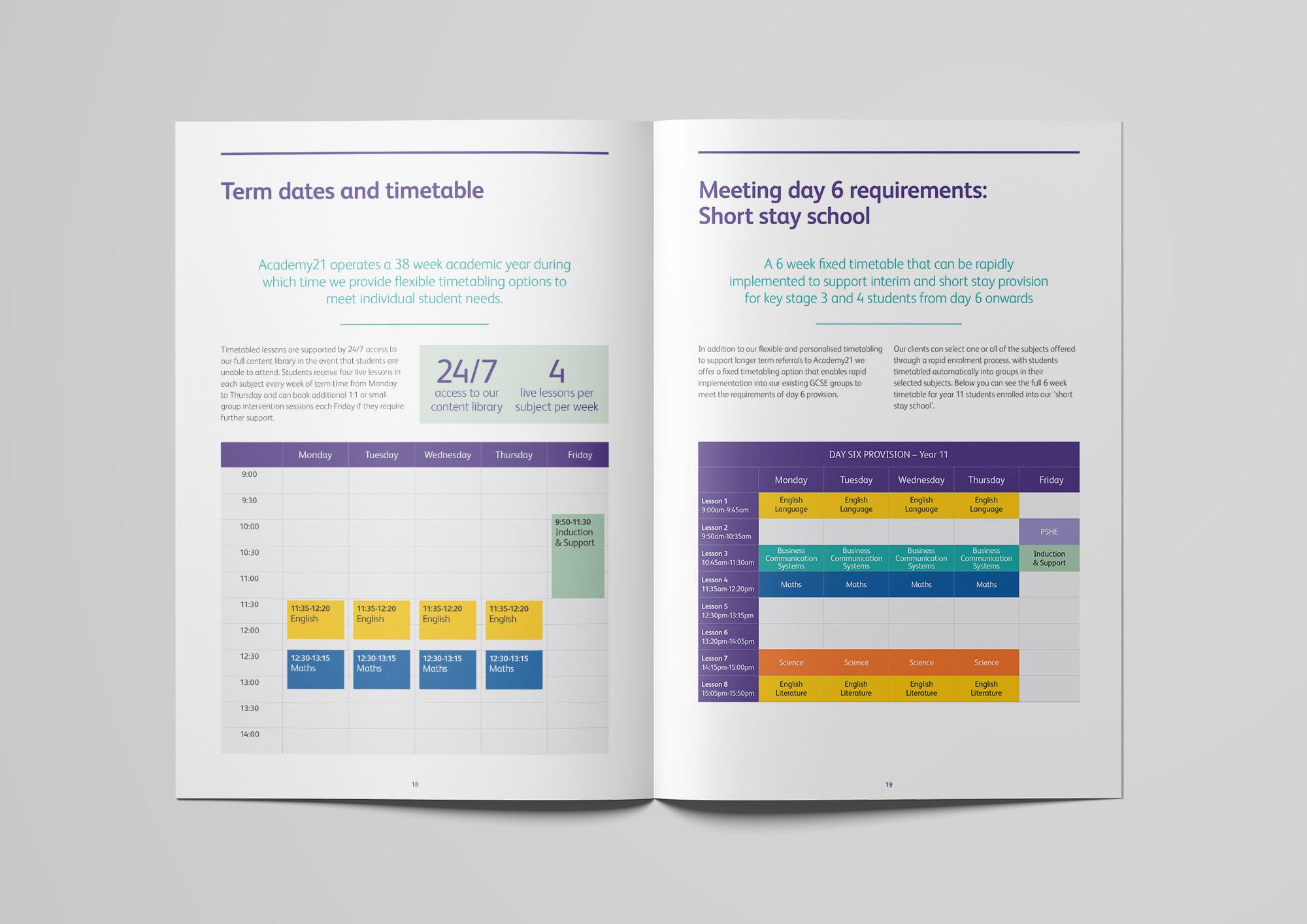 Academy21 prospectus design