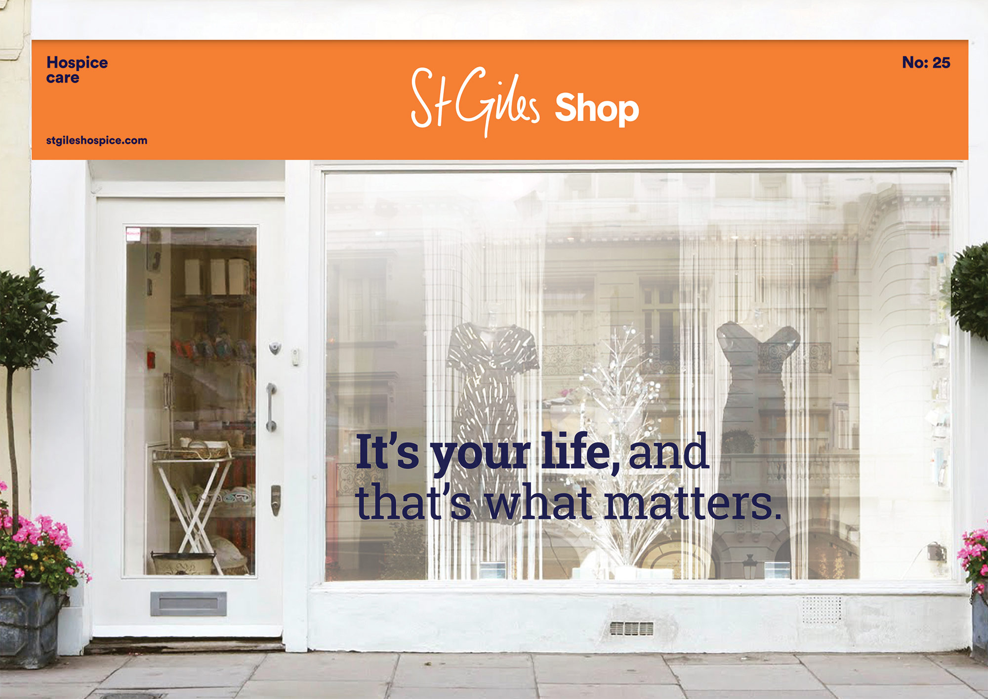 St Giles Hospice shop front